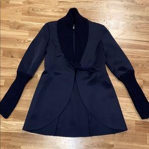 Navy Blue Women's Blazer Style Jacket